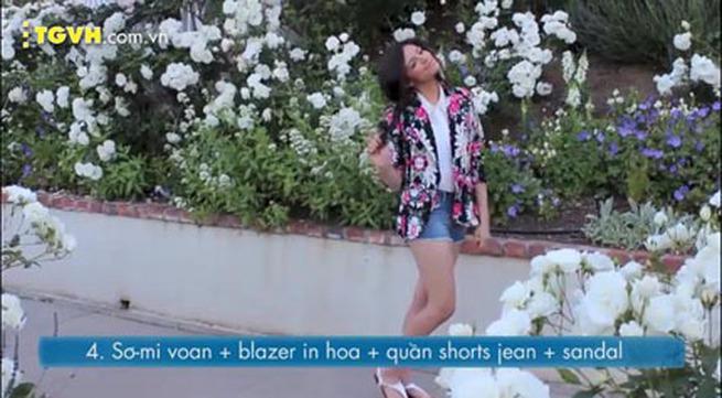 Bí quyết diện trang phục in hoa cho mùa hè rực nắng